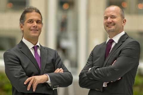 Die Architekten Axel Reinsdorf und Stefan Hahnfeld